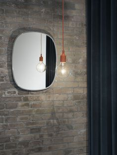 Muuto E 27 Pendant Led Hanglamp Terracotta - Trouva Mirror Wall Collage, Wall Mirrors Entryway, Mirror Gallery Wall, White Wall Mirrors, Silver Wall Mirror, Lighted Wall Mirror, Mirror Lamp, Rustic Wall Mirrors, Fireplace Mirror