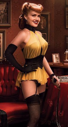 Watchmen. The first Silk Spectre costume.  Loved the late thirties/earlier forties look.