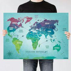 Mapa mundi Colors