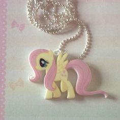 Fluttershy Necklace My Little Pony Friendship Is Magic Cute Kawaii DIY Rare | eBay