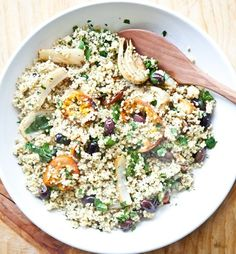 Warm Citrusy Millet Salad with Roasted Fennel and Kalamata Olives
