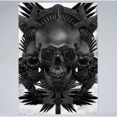 Blackskull Graphic Art on Wrapped Canvas Americanflat Size: 60 cm H x 40 cm W x 5 cm D Skull Painting, Painting Frames, Painting Prints, Art Prints, Metal Wall Art, Wrapped Canvas, Graphic Art, Canvas Art, Lion Sculpture