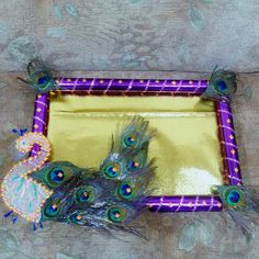DIY indian wedding tray Diwali Decorations, School Decorations, Wedding Decorations, Arti Thali Decoration, Trousseau Packing, Rangoli Designs Flower, Peacock Decor, Wedding Plates, Wedding Gift Wrapping