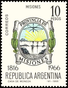 Misiones Declaration Of Independence, Stamp Collecting, Postage Stamps, Mood, Colors, Pretty Letters, Designer Purses, Door Bells, Latin America