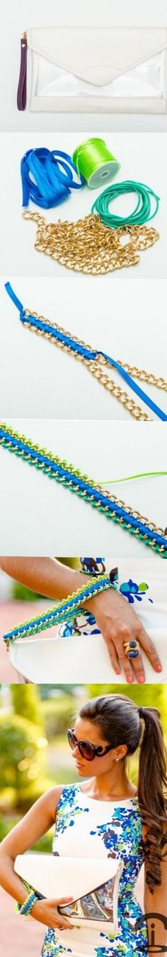 Crimenes de la Moda: DIY Neon Chain Clutch by Morwen