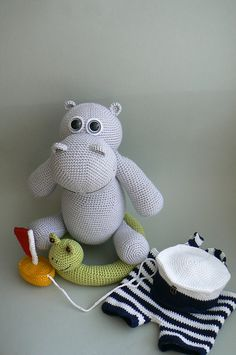This pattern was originally made exclusively for July issue of Inspired Crochet. As July is gone, we can also offer you this happy Hippo, who loves to swim here on Ravelry.