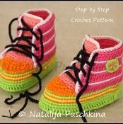 Funky Baby Booties Crochet Pattern