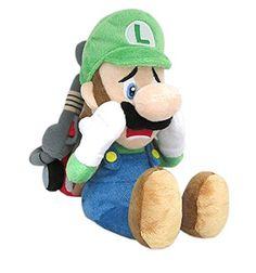 Nintendo Official Super Mario Series Luigi's Mansion Scared Luigi with Strobulb Plush Mario Und Luigi, Super Mario And Luigi, Super Mario Brothers, Mario Bros., Plush Dolls, Doll Toys, Mario Toys, Luigi's Mansion, Video Games Funny