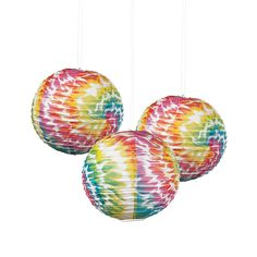 Tie-Dye Printed Paper Lanterns - OrientalTrading.com