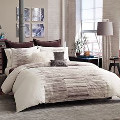 Give your bedroom a modern and urban update with the Landscape duvet cover by Kenneth Cole Reaction Home.