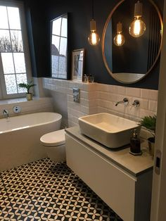 Most Popular Small Bathroom Design Ideas for 2019 - Small Style.Most Popular Small Bathroom Design Ideas for 2019 - Small Style.Most Popular Small Bathroom Design Ideas for 2019 - Small Style. Bathroom Floor Tiles, Wood Bathroom, Grey Bathrooms, Bathroom Colors, Modern Bathroom, Master Bathroom, Bathroom Ideas, Mirror Bathroom, Bathroom Black