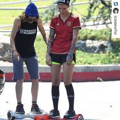 #Repost @iceeewho with @repostapp. ・・・ #katemoennig & #rubyrose enjoy an afternoon of segways in Griffith Park