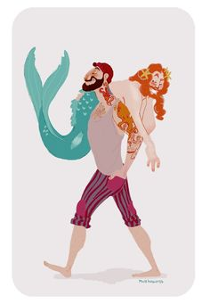 There needs to be more sailor/merman tales out there. We love our Fin Fun Merman!