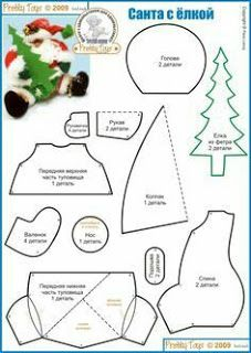 """Photo from album """"игрушки. Christmas Makes, Felt Christmas, Handmade Christmas, Christmas Ornaments, Christmas Craft Projects, Christmas Sewing, Diy Projects Handmade, Felt Crafts Patterns, Xmas Theme"""