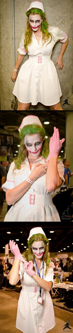 a woman dressed as the Joker who was dressing as....a woman.....cosplay-ception
