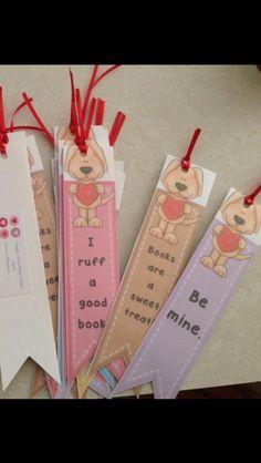 Freebie Valentine bookmarks!