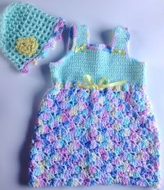I'm selling Baby's Aquamarine and Multi Sundress and Matching Hat - $35.00 #onselz