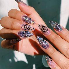 Nail Design Stiletto, Nail Design Glitter, Perfect Nails, Gorgeous Nails, Pretty Nails, Cute Acrylic Nails, Gel Nails, Acrylic Nail Designs, Nail Art Designs