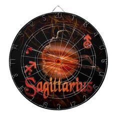 Valxart creepy zodiac born Sagittarius Dartboards See Valxart.com or Zazzle Valxart store at  http://zazzle.com/valxart*