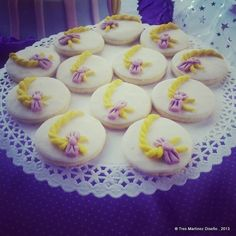 Pretty cookies at a Tangled girl birthday party!  See more party ideas at CatchMyParty.com!