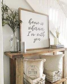 Sharing for a few Saturday tags! This sign has been so popular lately and every time I make one, I think of how much I need this for our entryway.  One day (probably two months from now)  I'll get around to making one for myself  but for now I can enjoy this picture.  Also, go check out @fancythatfarmhouse and grab a couple pillow covers! #styledsaturdaysigns #ThePolishedFarmhouse #MyWhiteWeekend #farmhouseroundup #SimplyWhiteSaturday #simplelivingsaturday