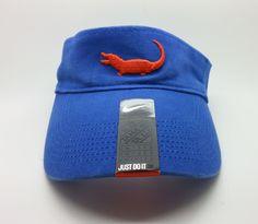 c3b1ca10 FLORIDA GATORS MASCOT NIKE ADJUSTABLE BLUE VISOR HAT/CAP (OSFA) -- NEW #Nike  #FloridaGators
