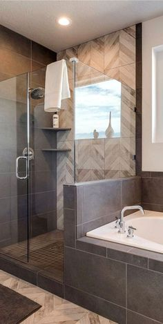Bathroom remodel ideas - Our gallery showcases bathroom remodeling ideas. From full master bathroom renovations, smaller sized visitor bathroom remodels, and bathroom remodels of all sizes. Bathroom Renos, Bathroom Renovations, Bathroom Interior, Bathroom Ideas, Bathroom Makeovers, Bathroom Designs, Bathroom Mirrors, Mosaic Bathroom, Bathroom Cabinets