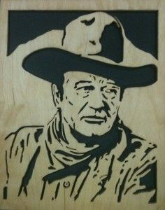 Another John Wayne scroll saw fretwork Cutting Completed
