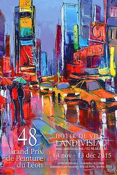 Eric Le Pape, artiste peintre de Bretagne | Grand Prix, Eric Le Pape, Expositions, Times Square, Paintings, Blog, Canvases, Brittany, Kunst