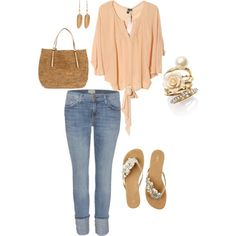 summer casual, created by melody1234 on Polyvore