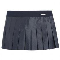 Girl-Junior - Navy Leatherette Skirt