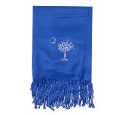 Palmetto Rhinestone Scarf - Blue