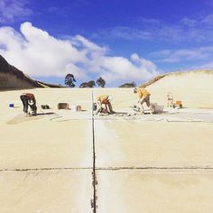 Concrete works on the Tullaroop Spillway #jackhammer #concrete #construction