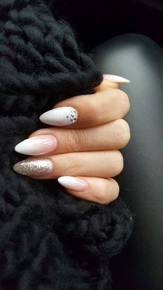 Wedding nails #almondshapednails