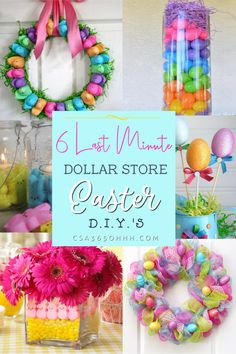 f you're like me and Easter snuck up on you this year, but you are the Martha Stewart of your family, please check out these 6 last minute dollar store Easter D.I.Y.'s to still add your special touch to the celebration!