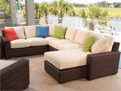 The Contempo 5 Piece Outdoor Sectional Seating Set By Lloyd Flanders