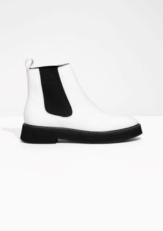 & Other Stories image 1 of Leather Chelsea Boots in White