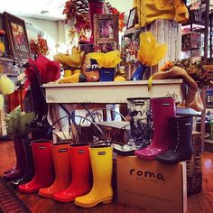 At @magpies_gifts in Houston getting ready for an interview with ABC in October 2014. #romaboots #foryouforall #abchouston #magpies