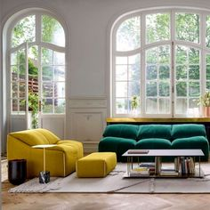 Comfortable furniture decided in bold colors inspired by iconic model introduced over 35 years ago. (Image Courtesy of ligne-roset.com)