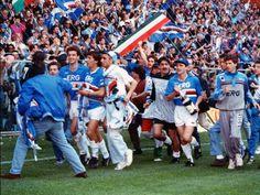 Blucerchiati celebrates Scudetto 1990/91