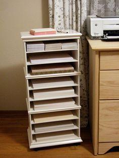Como hacer un organizador de papeles & My new paper storage. I bought an Ikea upper cabinet (size 15x39 ...
