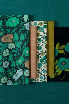 Liberty Fabric, Liberty Of London, The Collector, Art Nouveau, Interiors, Texture, Wallpaper, Drawings, Modern