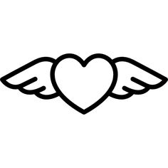 Heart with Wings free vector icons designed by Freepik Easy Doodles Drawings, Easy Doodle Art, Mini Drawings, Simple Doodles, Art Drawings Sketches Simple, Cute Doodles, Pencil Art Drawings, Disney Drawings, Cartoon Drawings