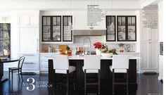 glam black and white kitchen - love