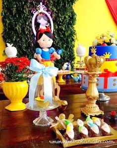 Feltrolândia : Decoração Festa Infantil - Branca de Neve e os Sete Anões