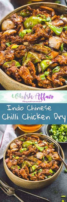 Essentially speaking, Indo Chinese Chilli Chicken Dry is a nice saute of spices, sugar, sauces and boneless chicken cooked till perfection. #IndoChinese #Chicken #Asian via @WhiskAffair
