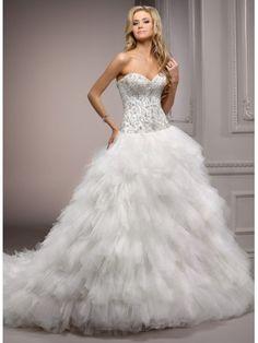 Robe de bal sweetheart robe de mariage en tulle
