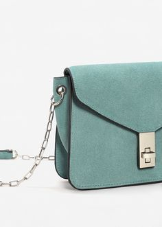 Chain suede bag - Women | MANGO USA