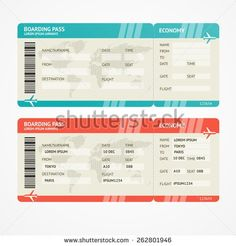 Free Printable Boarding Pass   Two Blank Airline Boarding Pass ...