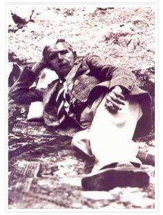 "A rare photo of ""Jinnah""  in a relaxing pose -"